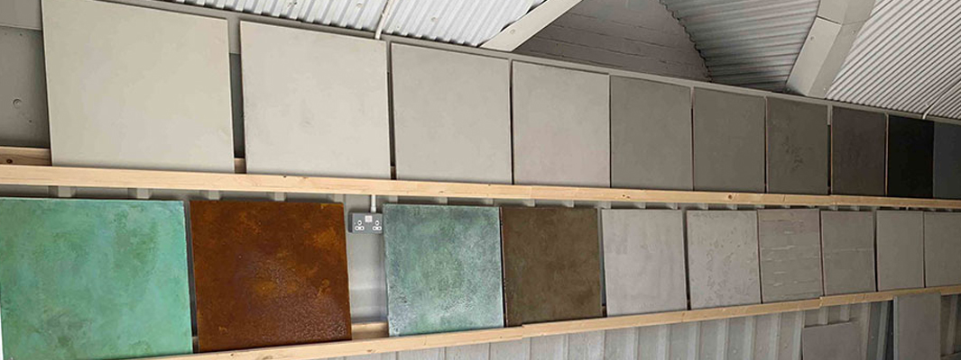 microcement colour samples
